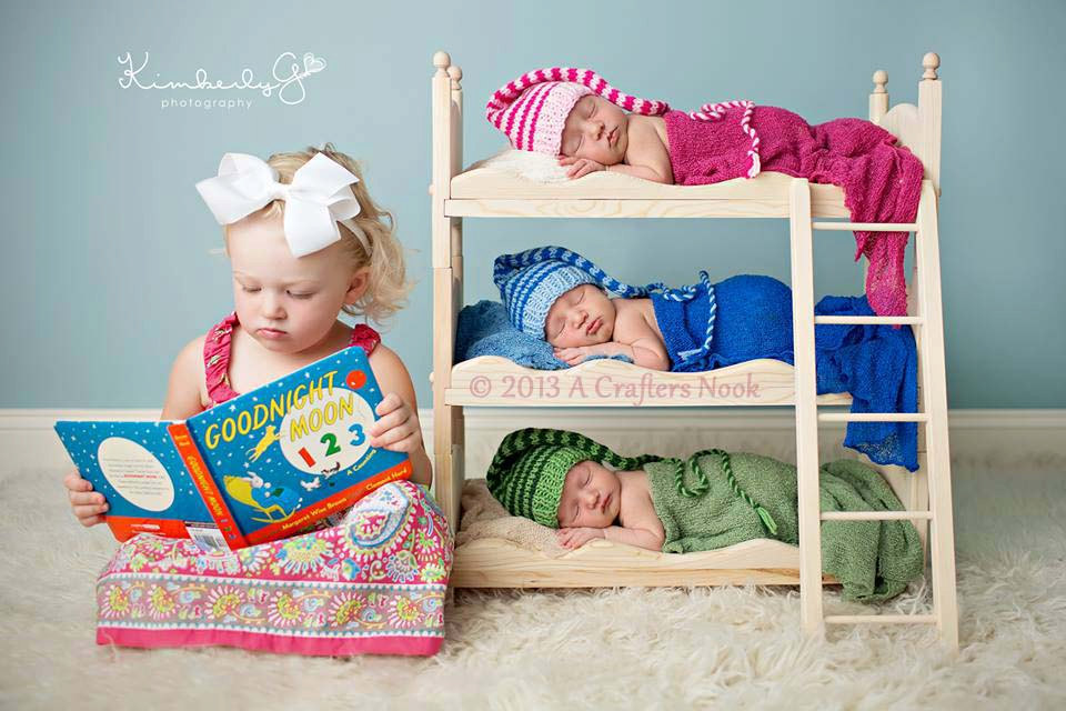 Triple Doll Bed Bunk Bed Mattresses And Ladder Newborn ...